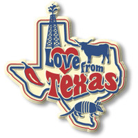 """""""Love from Texas"""" Vintage State Magnet by Classic Magnets, Collectible Souvenirs Made in the USA"""