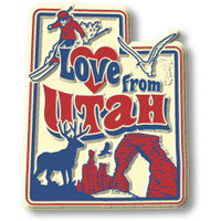 """""""Love from Utah"""" Vintage State Magnet by Classic Magnets, Collectible Souvenirs Made in the USA"""