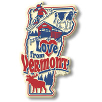 """""""Love from Vermont"""" Vintage State Magnet by Classic Magnets, Collectible Souvenirs Made in the USA"""