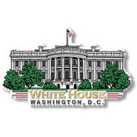 White House Magnet by Classic Magnets, Washington D.C. Series, Collectible Souvenirs Made in the USA