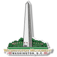 Washington Monument Magnet by Classic Magnets, Washington D.C. Series, Collectible Souvenirs Made in the USA