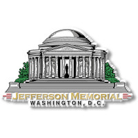 Jefferson Memorial Magnet by Classic Magnets, Washington D.C. Series, Collectible Souvenirs Made in the USA