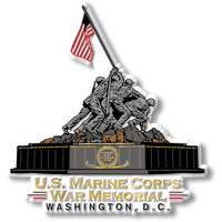 Marine Corps War Memorial Magnet by Classic Magnets, Washington D.C. Series, Collectible Souvenirs Made in the USA