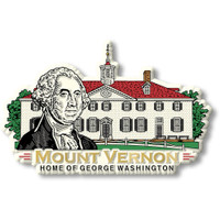 Mount Vernon Magnet by Classic Magnets, Washington D.C. Series, Collectible Souvenirs Made in the USA