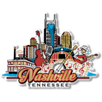 Nashville City Collage Magnet by Classic Magnets, Collectible Souvenirs Made in the USA