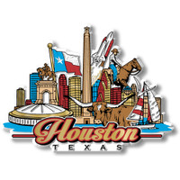 Houston, Texas Magnet by Classic Magnets, Collectible Souvenirs Made in the USA