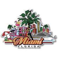 Miami, Florida Magnet by Classic Magnets, Collectible Souvenirs Made in the USA