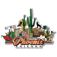 Phoenix, Arizona Magnet by Classic Magnets, Collectible Souvenirs Made in the USA
