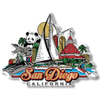 San Diego, California Magnet by Classic Magnets, Collectible Souvenirs Made in the USA