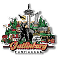 Gatlinburg, Tennessee Magnet by Classic Magnets, Collectible Souvenirs Made in the USA