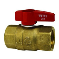"GAS BALL VALVE BRASS 1"" FPT Shut-Off W/Red Handle for Watts MFG # 0545007 521050"