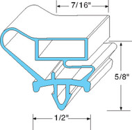 GASKET DOOR 23-15/16 X 53-3/4 High Dart Mount Gray for Beverage Air MT49 741118
