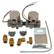 """DUAL GAS SOLENOID VALVE KIT 3/8"""" 120V for Southbend Oven Prior to 5/95' 541038"""