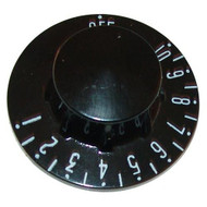 DIAL 2-1/4 DIA OFF-10-1 Black Thermostat Knob for Groen Kettle TDB-20 221218