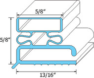 "DOOR GASKET 23-3/8"" X 29-3/8"" Rubber R-Type for Traulsen OEM SER-04503-00 741054"