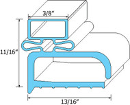 "DOOR GASKET 15 1/8"" X 24 1/4"" Screw Mount for Randell 9030K-7 9040K-7 741279"