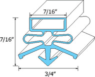 "DOOR GASKET 24-3/8"" X 26"" Snap-In Mount Blk for True Refrigerator TPP-67 741060"