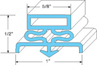 "DOOR GASKET 29 1/4"" X 67 1/2"" Rubber R Type Grey Snap-In Mount Traulsen 741046"