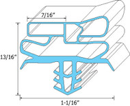 "DOOR GASKET 23 1/4"" X 28 1/4"" Magnetic for Delfield S/S Half Door 402 403 741304"