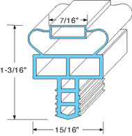 "GASKET DOOR 21-1/2"" x 24-1/4"" Push-In Mount Gray for Randell 8260N  8383N 741110"