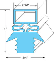 "DOOR GASKET 21 1/2"" X 29 1/2"" Rubber R-Type for Traulsen Refrigerator RHD 741047"