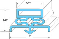 "DOOR GASKET 7 1/4"" X 23 1/2"" Rubber R-Type Grey Snap-In Traulsen 39393 741040"