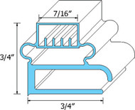 "DOOR GASKET 23-1/8"" X 28-1/2"" Rubber R Type Magnetic for Delfield 6000 741011"