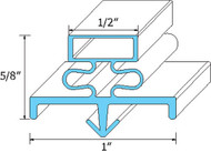 "DOOR GASKET 24-1/2"" X 62-1/2"" 1"" B Rubber R Type Snap-In Mount for Glenco 741021"