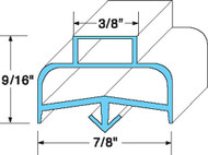 "DOOR GASKET 20 3/4"" X 21 3/4"" Blue Dart Mount for Delfield 402 403 406 741260"