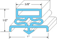 "DOOR GASKET 23 1/2"" X 23 1/2"" Rubber R-Type Snap-In Mount for Traulsen 741043"