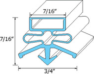 "DOOR GASKET 22 3/8"" X 31 3/8"" Snap-In Mount for Beverage Air BB58 BB68 741005"