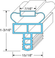 "GASKET DRAWER 10-1/4"" X 24-9/16"" 7/16"" MAG Push-In Gray Randell 2-2020F01 741141"