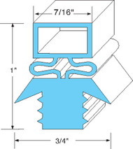 "DOOR GASKET 21-5/8"" x 59-5/8"" Rubber R-Type Push-In Traulsen Refrigerator 741048"