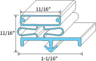 DOOR GASKET 35 3/4 X 79 1/2 3-Side Gray Dart Mount for McCall/Kolpak 0988 741274