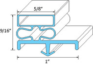 DOOR GASKET 22-1/2 X 25-1/2 Rubber Snap-In for Continental Refrigeration 741089