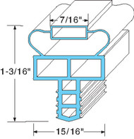 "GASKET DRAWER 9-3/4"" X 24-1/2"" Push-In Gray for Randell OEM # IN-GSK1047 741145"