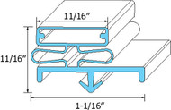 "DOOR GASKET 22 3/4"" X 59 1/4"" Blue Dart Mount for Delfield 6025-HG 6025-S 741254"