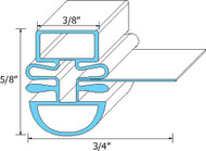 "DOOR GASKET 25 1/2"" X 53 1/2"" Magnetic Snap-In for Turbo Air TSR/F SD 741237"