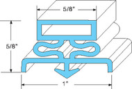 "GASKET DOOR 22-3/4"" X 59-3/4"" Rubber R-Type for Traulsen G100 G110 G12000 741116"