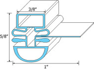"DOOR GASKET 26 1/2"" X 28"" Dart Mount Mag 3/8"" for Turbo Air TUR60/TST60 23426"