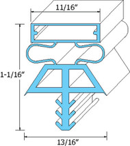 "DOOR GASKET 36 1/4"" X 78"" 4-Sided 3 Dart Snap-In Mt for Kolpak/Vollrath 741073"