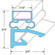 "DOOR GASKET 24-1/2"" X 29-1/2"" Rubber R-Type Grey Screw Mount for Hobart 741023"