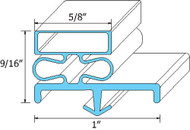 "DOOR GASKET 38"" X 78 1/2"" LEFT 3-Sided Dart Mount for Vollrath Kolpak 741293"