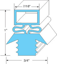 "DOOR GASKET 23 5/8"" X 23 3/4"" Rubber R-Type Push-In for Traulsen 27568 741049"