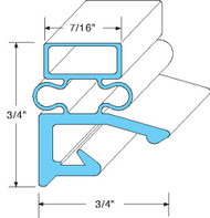 "DOOR GASKET 24-3/8"" X 60-11/16"" Rubber R-Type Screw/Retainer MNT Hobart 741024"