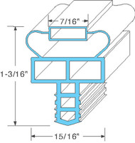 "GASKET DRAWER 7-5/16"" x 24-7/8"" Push-In Mount for Randell 20042R 20042RF 741138"