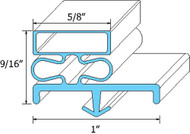 "GASKET DOOR 23 1/8"" X 27 3/4"" Snap-In Mount Gray for Randell 20042R 42RF 741178"