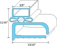 "DOOR GASKET 23 5/16"" X 23 11/16"" Screw Mount Randell Under-Cabinet 9302A 741034"