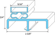 "DOOR GASKET 25 1/8"" X 30 3/8"" Rubber R-Type for Victory Refrigerator SR47 741067"