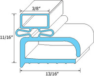 "DOOR GASKET 24-1/4"" X 24-1/4"" Rubber R-TYpe for Randell 9030K-7 9040K-7 741035"